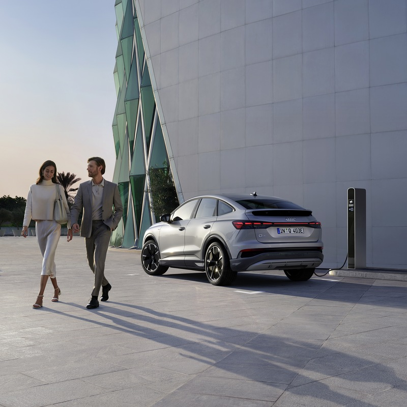 The new, fully electric Audi Q4 Sportback e-tron