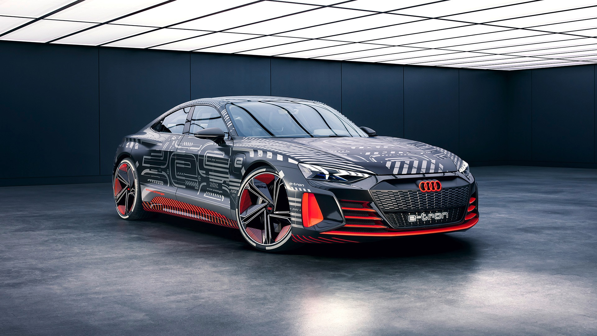 Silhouette of the Audi e-tron GT concept