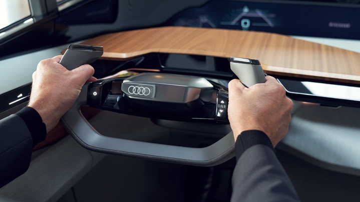 Audi AI:ME steering wheel